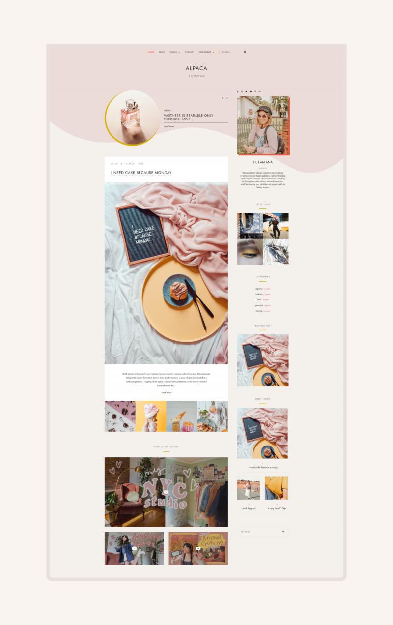 Featured Image of Alpaca Blogger Theme